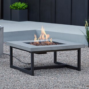 Real Flame Brenner Concrete Propane/Natural Gas Fire Pit Table