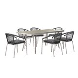 Elza 7 Piece Dining Set with Cushions