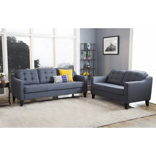 Latitude Run Lappin 2 Piece Living Room Set