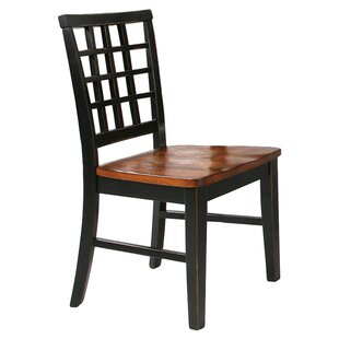 Best Reviews Espy Lattice Back Solid Wood Dining Chair (Set of 2) by Darby Home Co Reviews (2019) & Buyer's Guide