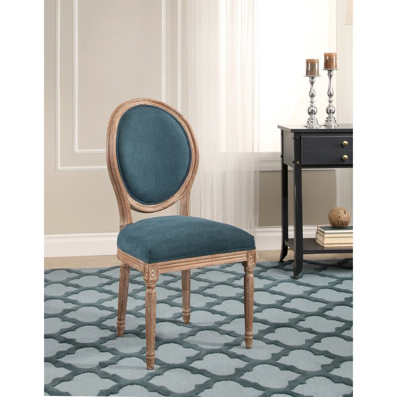 Manlius Vintage Round Back Upholstered Dining Chair