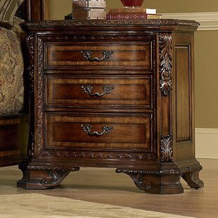 Brussels 3 Drawer Nightstand By Astoria Grand