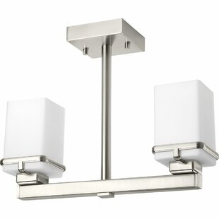 Chen 2-Light Semi Flush Mount by Latitude Run