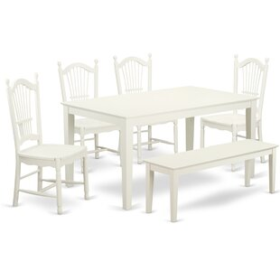 Smyrna 6 Piece Solid Wood Dining Set Charlton Home