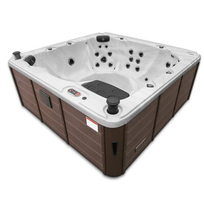 Canadian Spa Co Victoria 46-Jet Hot Tub with Waterfall