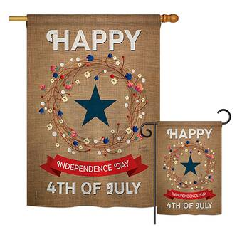 Breeze Decor Fireworks July 4th Americana Fourth Of Impressions 2 Sided Polyester 2 Piece Flag Set Wayfair