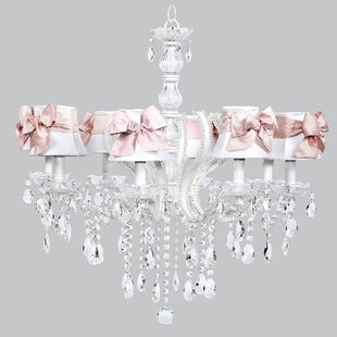 Pageant 8-Light Shaded Chandelier by Jubilee Collection