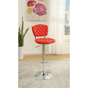 Hertel Adjustable Height Bar Stool Orren Ellis