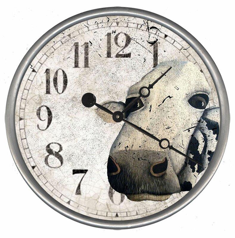 Lenhart Cow Wall Clock