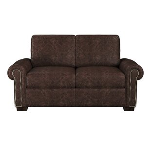 Burke Leather Loveseat