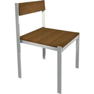 Modern Outdoor Luma Stacking Patio Dining Chair with Cushion