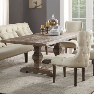 Gracie Oaks Loiselle Solid Wood Dining Ta..