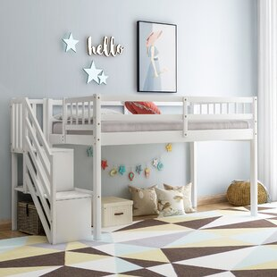 Abbotsford Twin Loft Bed with Shelf by Isabelle amp Max