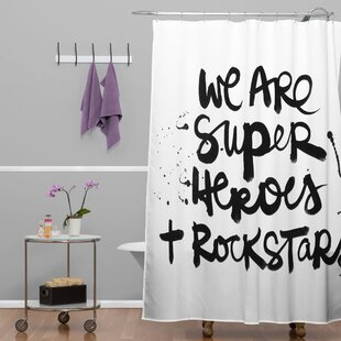Fegley Superheroes Single Shower Curtain