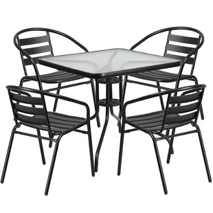 Breakwater Bay Elston 5 Piece Bistro Set