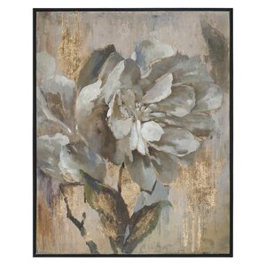 Dazzling Floral Art Framed Painting Print on Canvas