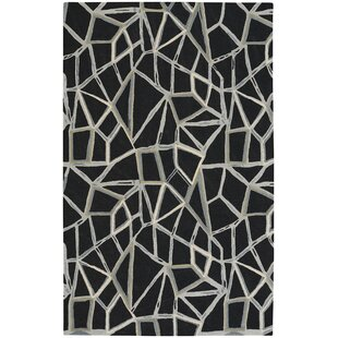Affordable Splinter Hand-Tufted Ebony Area Rug ByCapel Rugs