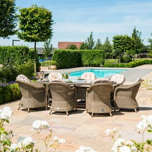Scribner 8 Seater Dining Set With Cushions By Sol 72 Outdoor