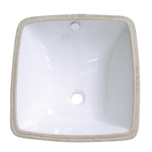 Kingston Brass Vista Ceramic Square Undermount Bathroom Sink with Overflow