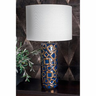 Roseman Ceramic and Metal 25 Table Lamp
