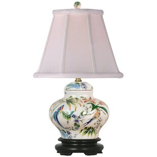 Porcelain Lily Cover Jar 15 Table Lamp