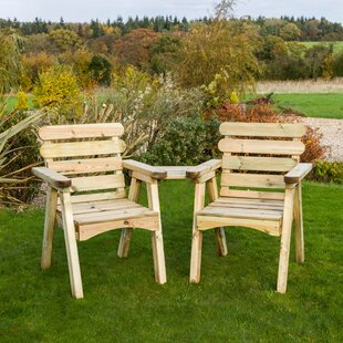 Hampden Wooden Love Seat By Sol 72 Outdoor