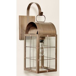Compare & Buy Xzavier 1-Light Outdoor Wall Lantern By Breakwater Bay