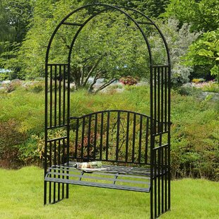 Sunjoy Selena Steel Arbor with Bench