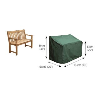 2-Seater Water Resistant Patio Bench Cover