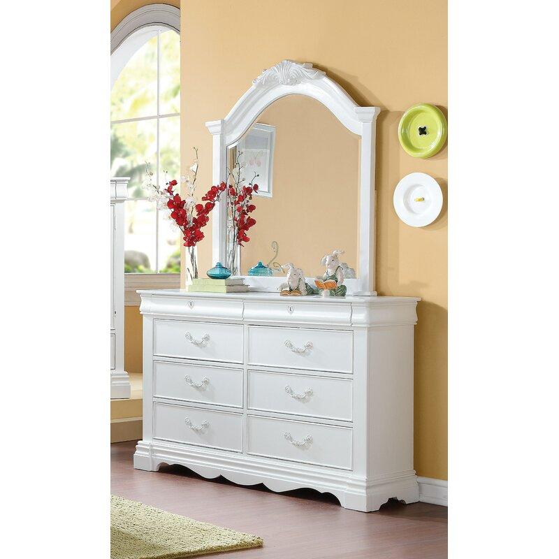 Canora Grey Henricks 8 Drawer Double Dresser With Mirror Wayfair Ca