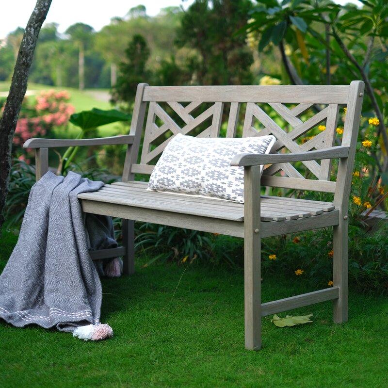 Schank Teak Garden Bench