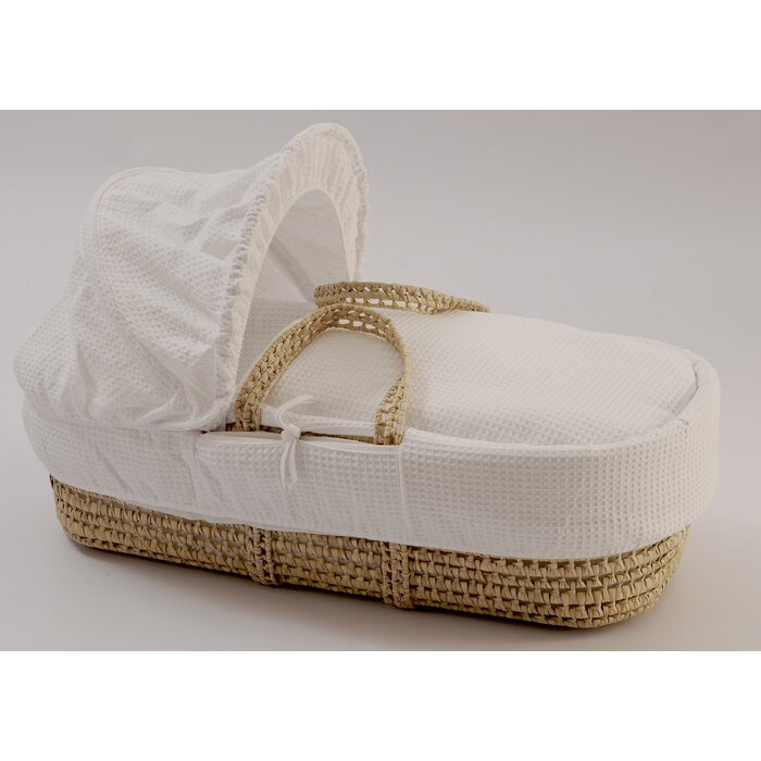 White Clair de Lune Fleece Liner//Dressing for Palm and Wicker Moses Baskets