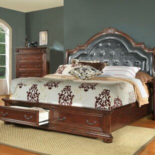 Flair Goldsmith Upholstered Storage Platform Bed
