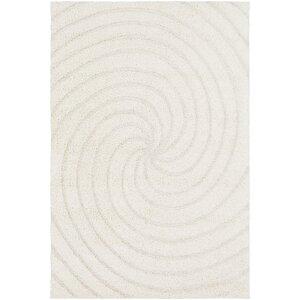 Marketfield Soft Swirly Shag White Area Rug