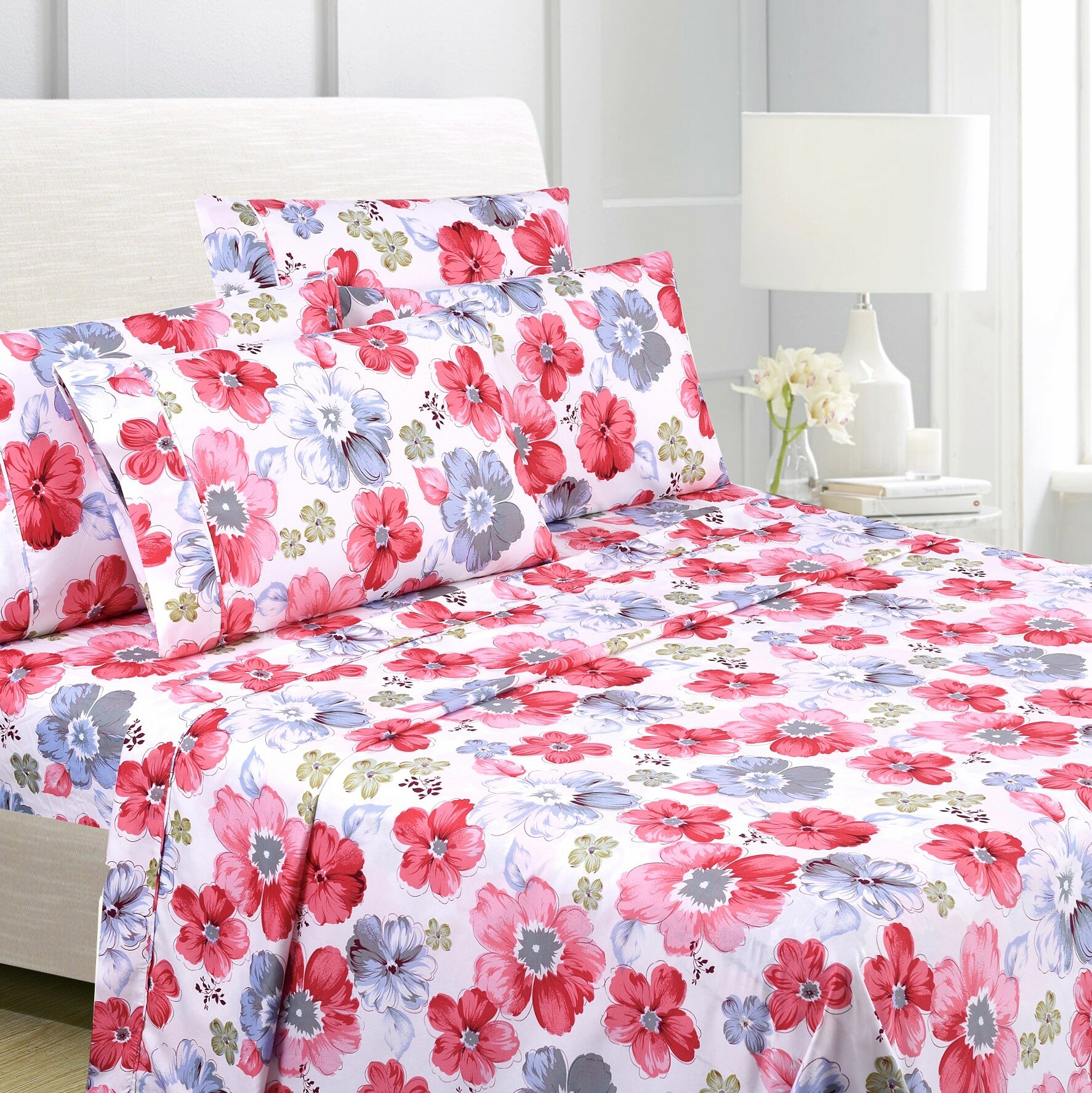 262 With Duvet Cover,Pillow Cases /& Fitted Sheet 3D Effect Bedding Complete Set