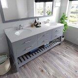 Angervo 72 Double Bathroom Vanity Set by Ebern Designs