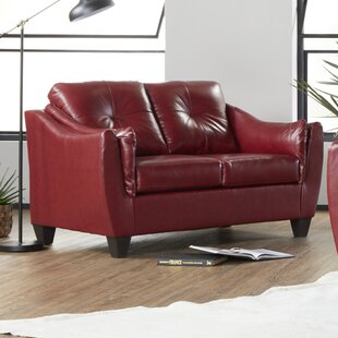 Maney Leather Loveseat By Ebern Designs