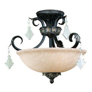 Dolan Designs Florence 3-Light Semi Flush Mount
