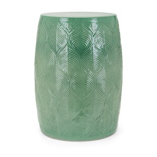 Mcclintock Ceramic Glazed Garden Stool by Bungalow Rose
