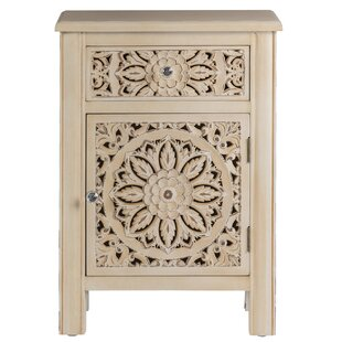 Aisling 1 Drawer Bedside Table By World Menagerie