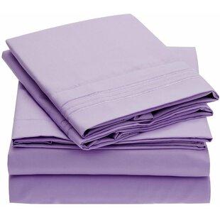 Mellanni Fine Linens 1800 Thread Count 100% Brushed Microfiber Sheet Set