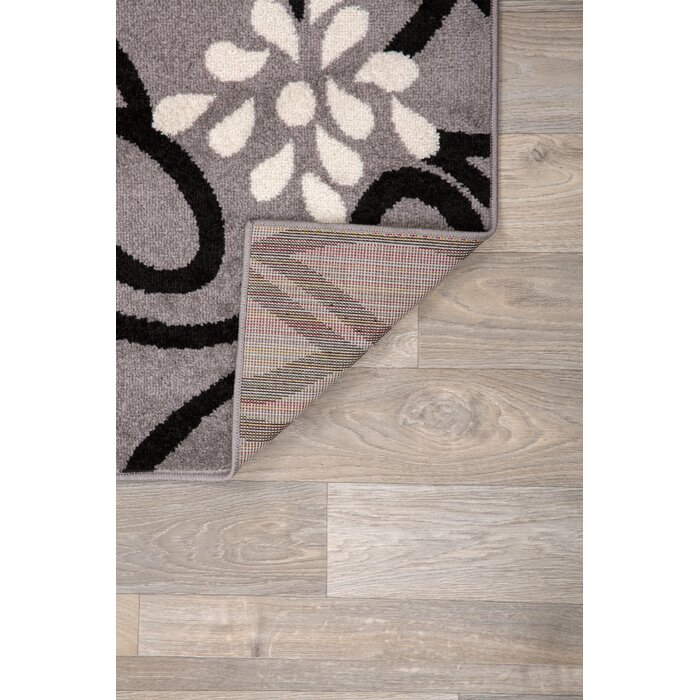 Enzo Contemporary Large Fl Brown Area Rug