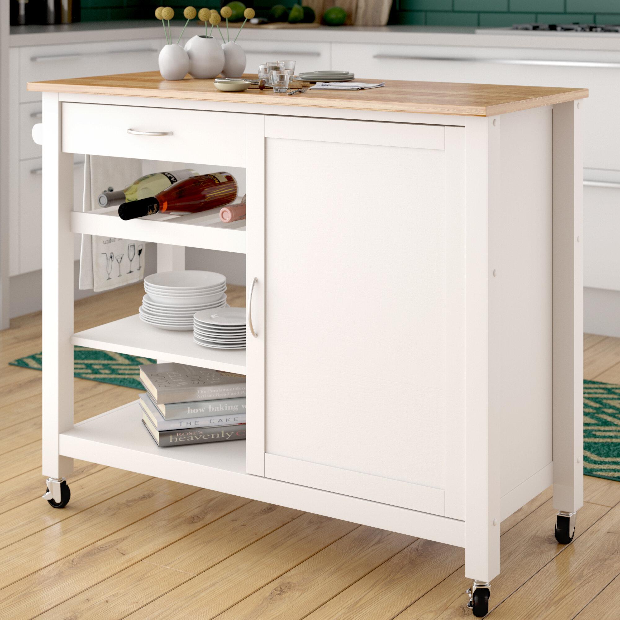 Laude Run Monongah Wood Kitchen Cart