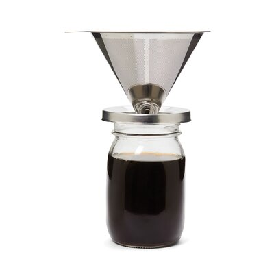 Symple Stuff Stainless Steel Coffee Canning Jar