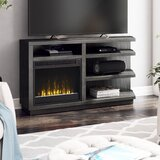 Blytheswood TV Stand for TVs up to 65 with Electric Fireplace Included by Latitude Run®