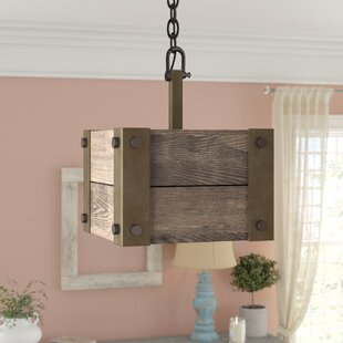 Boda 1-Light Square/Rectangle Pendant by Loon Peak