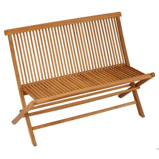 Matt Outdoor Folding Wooden Garden Bench by Millwood Pines