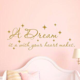 Quote Cinderella Nursery Decor Wall Decal