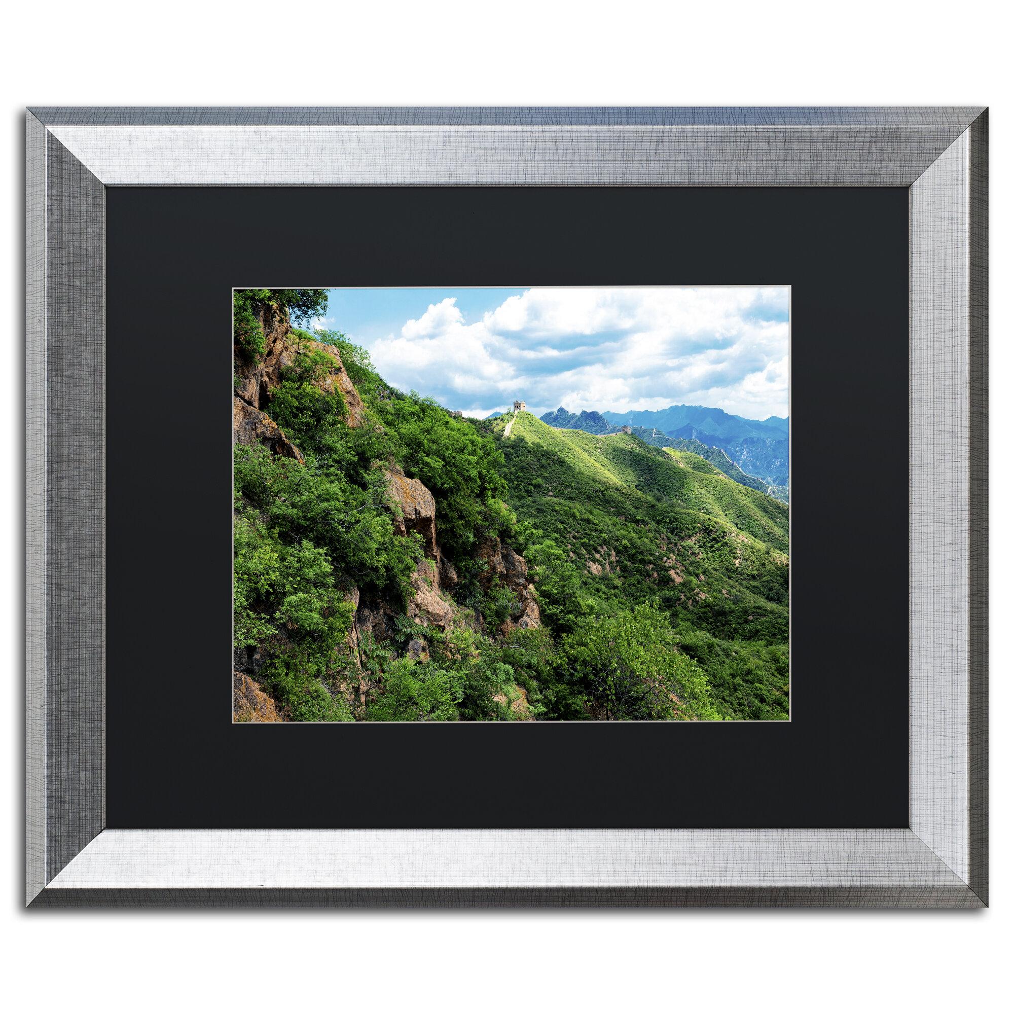 Trademark Art Great Wall Xv By Philippe Hugonnard Framed Photographic Print Wayfair