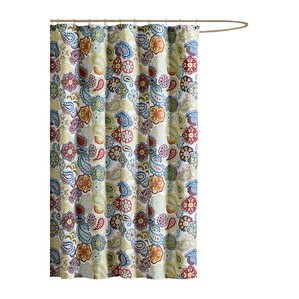 Aguirre Shower CurtainNature   Floral Shower Curtains You ll Love   Wayfair. Teal And Yellow Shower Curtain. Home Design Ideas